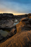 Amazing sunrise  Rock Canyon , 3000 Bok, Ubonratchathani, Thailand. Royalty Free Stock Photos