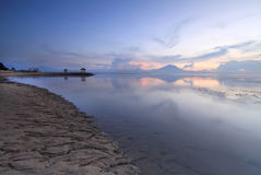 Amazing Sunrise in Sanur Beach, Bali, Indonesia. Stock Photo