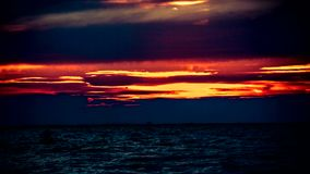 Amazing of Sunrise sky over the sea. Nature stock video footage