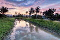 Amazing Sunrise and Sunset in Balik Pulau. Amazing Sunrise and Sunset in George Town, Penang Malaysia Royalty Free Stock Images