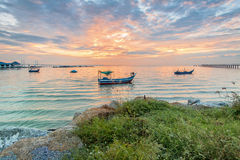 Amazing Sunrise and Sunset in George Town, Penang. Malaysia Stock Images
