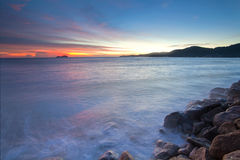 Amazing Sunrise and Sunset in George Town, Penang Royalty Free Stock Photography