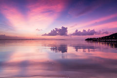 Amazing Sunrise and Sunset in George Town, Penang Royalty Free Stock Photo