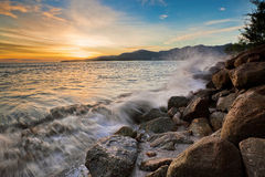 Amazing Sunrise and Sunset in George Town, Penang. Malaysia Stock Photo