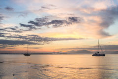 Amazing Sunrise and Sunset in George Town, Penang. Malaysia Royalty Free Stock Photography
