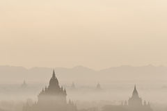 Amazing sunrise and Temples at Bagan Kingdom, Myanmar (Burma) Royalty Free Stock Image