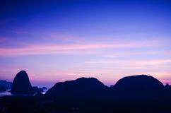 Amazing sunrise in Thailand Royalty Free Stock Photos