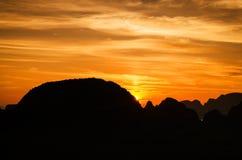 Amazing sunrise in Thailand Stock Photography