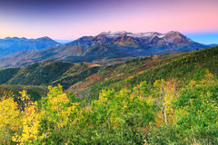 Amazing sunrise in the Wasatch Mountains. Stock Photo