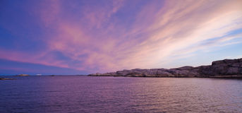 Amazing sunset. At southern Norway Stock Photos