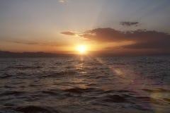 Amazing Sunset. Sunset over the Lake Sevan Stock Image