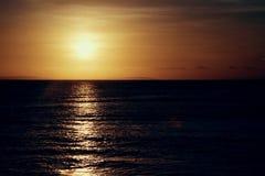 Amazing sunset. Orange Sunset Royalty Free Stock Photos