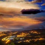Amazing sunset for adv Royalty Free Stock Photos