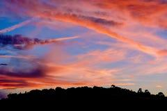 Amazing Sunset. Over Nice, France Royalty Free Stock Image