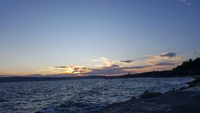 Amazing sunset. At Varna Bulgaria during autumn Stock Images
