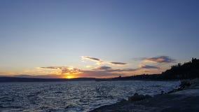 Amazing sunset. At Varna Bulgaria during autumn Stock Image