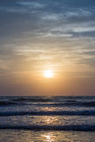 Amazing sunset at Arambol beach, North Goa, India Royalty Free Stock Images