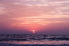 Amazing sunset at Arambol beach, North Goa, India Stock Photo