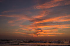 Amazing sunset at Arambol beach, North Goa, India Stock Photos