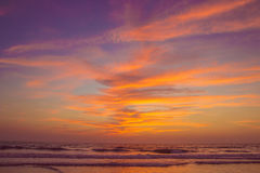 Amazing sunset at Arambol beach, North Goa, India Stock Image