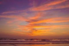 Amazing sunset at Arambol beach, North Goa, India.  Stock Image