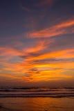 Amazing sunset at Arambol beach, North Goa, India.  Stock Photography