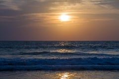 Amazing sunset at Arambol beach, North Goa, India.  Stock Images