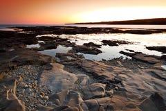 Amazing sunset at Atlantic ocean Royalty Free Stock Photos