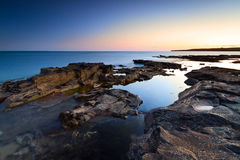 Amazing sunset at Atlantic ocean Stock Photo