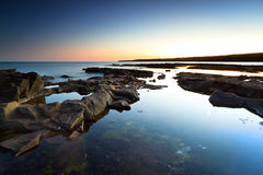 Amazing sunset at Atlantic ocean Stock Photography