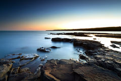 Amazing sunset at Atlantic ocean. Atlantic ocean scenery at sunset, Ireland Stock Photos