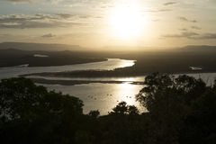 Amazing Sunset on a big river, Australia Stock Image
