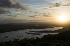 Amazing Sunset on a big river, Australia Royalty Free Stock Image