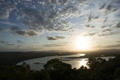 Amazing Sunset on a big river, Australia Stock Images