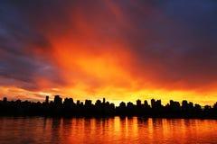 Amazing Sunset On The City Stock Photography