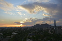 Amazing sunset clouds  in Santiago, Chile Royalty Free Stock Photography