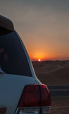 Amazing sunset in the desert Stock Image