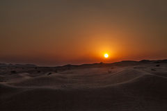 Amazing sunset in the desert Royalty Free Stock Photos