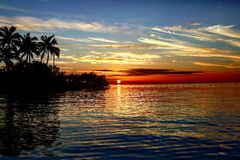 Amazing sunset in the Florida keys Stock Photo