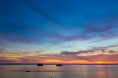 Amazing sunset form thailand beach Royalty Free Stock Photo