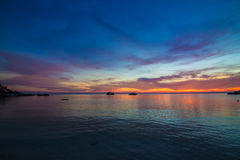 Amazing sunset form thailand beach Stock Photography