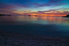 Amazing sunset form thailand beach Royalty Free Stock Image