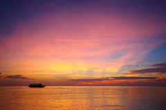 Amazing sunset form Thailand beach. Royalty Free Stock Photography