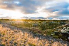 Amazing sunset in Iceland Royalty Free Stock Photos