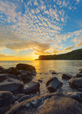 Amazing sunset on the Isle of Skye Stock Image