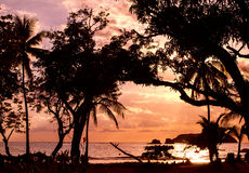 Amazing sunset - Manuel Antonio, Costa Rica Royalty Free Stock Photos