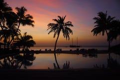 Amazing sunset at Meeru Maldives Stock Photo