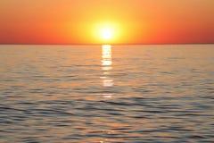 Free Amazing Sunset On The Sea Horizon Stock Photo - 156236120