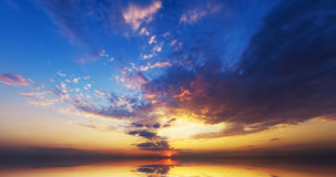 Amazing sunset over ocean. Nature composition Stock Photography