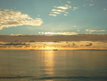Amazing sunset over the sea Royalty Free Stock Photo